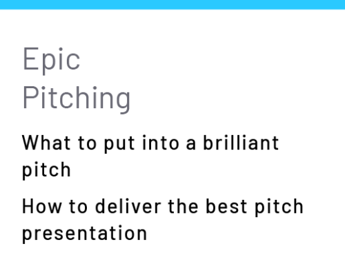 Epic Pitching