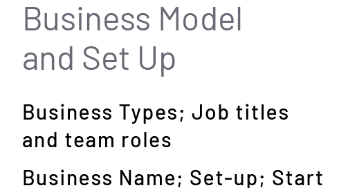 Business Model and Set Up
