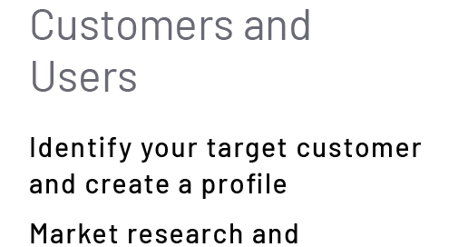 Customers and Users
