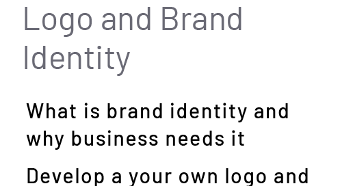 Logo and BrandIdentity