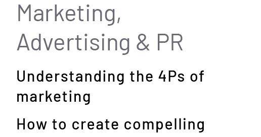 Marketing, Advertising & PR
